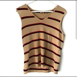 Caslon NORDSTROM striped sleeveless sweater tan